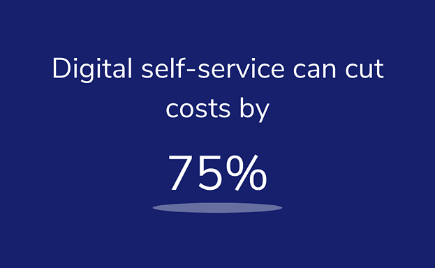 Digital self-service can cut costs by