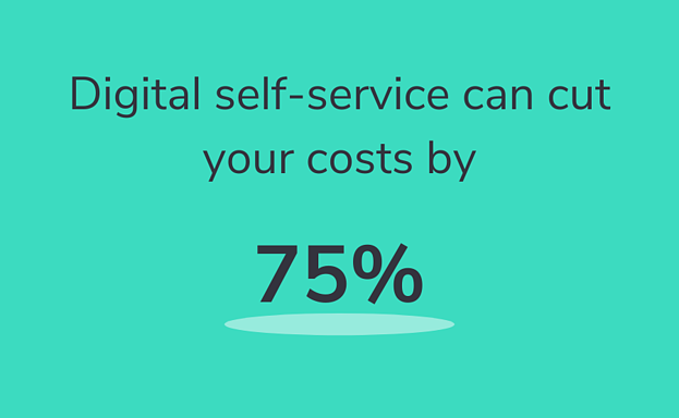 Digital self-service can cut your costs by