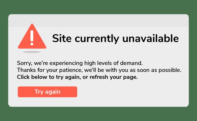 Access Error Website Message
