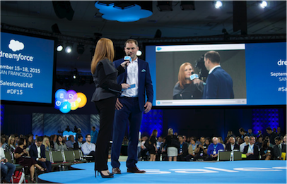 Richard Britton interview on stage at Dreamforce 2015