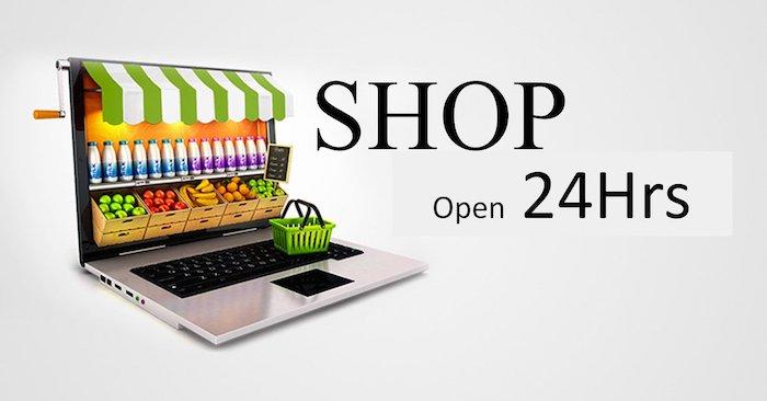 Online shop open 24/7