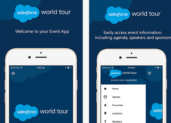 salesforce event app