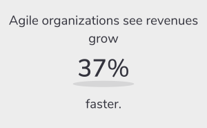 Agile organizations see revenues grow 37% faster